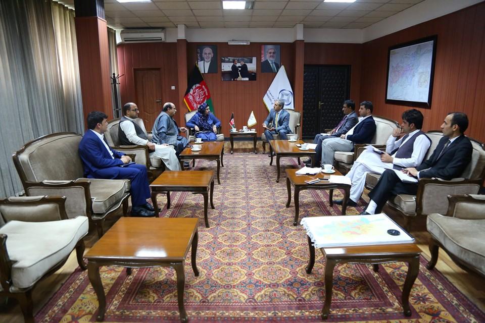دیدار وزیر ترانسپورت با شماری از اعضای شورا ملی و ولایتی